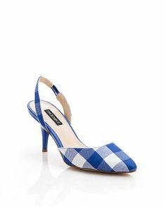 Blue Gingham Heels.