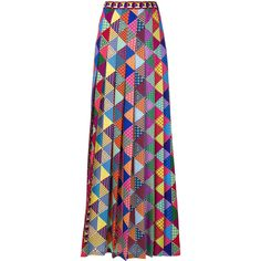 Mary Katrantzou printed pleated maxi skirt (63,745 PHP) ❤ liked on Polyvore featuring skirts, multicolour, multi colored maxi skirt, ankle length skirts, multi colored skirt, multicolor skirt and long pleated skirt