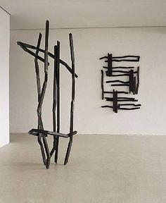 Robet Schad sculptures - steel bar