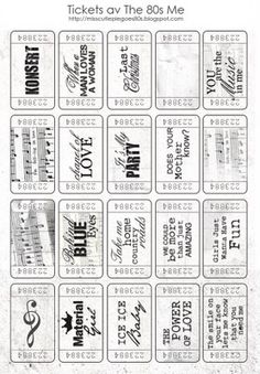 Free The 80's Music Tickets.  This blog is in swedish, to download the tickets right click on the image and save to your computer.