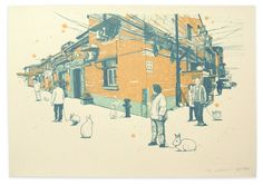Rabbit Year In Shanghai Edition II  Handpull Silk by idlebeats, $65.00