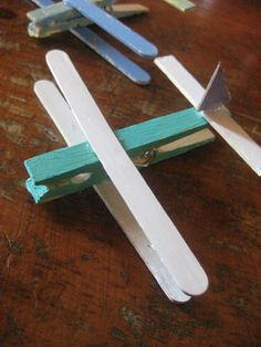 Transportation Unit- make an airplane out of popsicle sticks and clothespin. Could add a magnet on the back and put on the fridge.