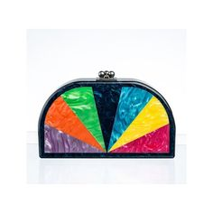EDIE PARKER rainbow clutch FashionDailyMag sel 5 ❤ liked on Polyvore featuring clutches