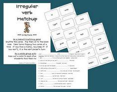Free!!! Irregular verbs matching game and follow up activity!!!