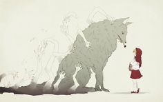 """Little Red Riding Hood"""" by Courtney Brims. Description from pinterest.com. I searched for this on bing.com/images"""
