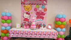 Hello Kitty . Estás buscando una linda decoración de fiestas de cumpleaños infantiles de Hello Kitt y , aquí te traigo varias ideas sobre es...