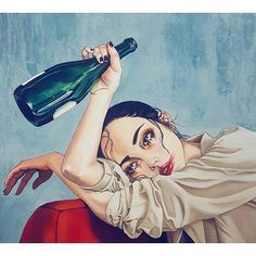 """Rojo Burdeos"" (segunda parte) --> link in bio.  Nuevo relato en el blog. Ilustración de @harumi_hironaka  #otraresacamas #blog #relato . . . . . .  #contemporanyart #illustration #artist #wine #winetasting #vin #bourdeaux #france #fiction #eroticart #erotism #humour #erotismo #humor #escrituracreativa #escritor #amateur #english #french #spanish #degustationdevin"