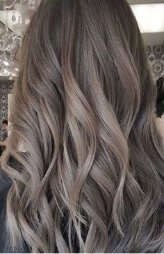 Long Wavy Ash-Brown Balayage - 20 Light Brown Hair Color Ideas for Your New Look - The Trending Hairstyle Ash Brown Hair Color, Light Brown Hair, Cool Tone Brown Hair, Ash Hair Colors, Ash Brown Ombre, Dyed Hair Brown, Ash Tone Hair, Brown Hair Tones, Hair Color For Tan Skin
