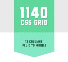 12 column fluid to mobile CSS grid.