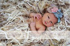Pale Fringe Baby Blanket Yarn Photo Prop for Pram by BabyBirdz, $95.00
