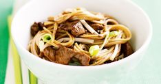 This quick and easy beef and noodle stir-fry has beansprouts for extra crunch.