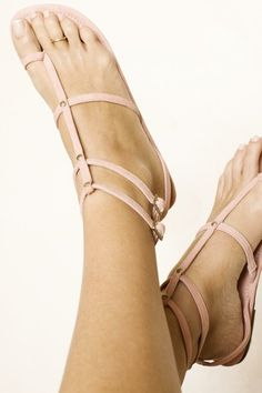 pink sandals with toe ring
