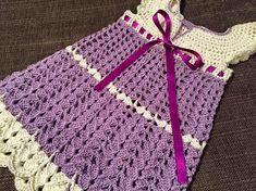 BiBa - Käsityöohjeet: Virkattu mekko - ohje Crochet Baby Dress Pattern, Baby Dress Patterns, Crochet Baby Clothes, Crochet Baby Hats, Crochet For Kids, Diy Crochet, Crochet Patterns, Crochet Dresses, Crochet Ideas