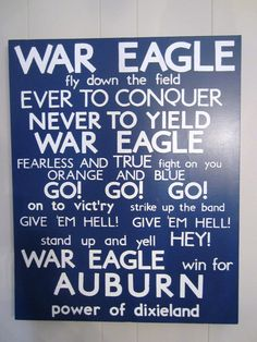 Auburn University Fight Song Subway Art