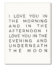 Underneath The Moon//