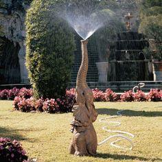 Baby Elephant Garden Sprinkler!