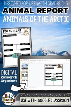 These digital ARCTIC animals research organizers are the perfect tool to help your students organize their research for their animal project or report. Each digital arctic animal research organizer helps students organize a variety of information about their animal including the animal's ecosystem, habitat, any predators, prey (if a carnivore), diet, fun facts and more. In addition, also comes with a page for students to write a short research report on their arctic animal!