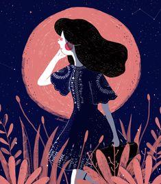 """다음 @Behance 프로젝트 확인: """"The Moon Girl"""" https://www.behance.net/gallery/33403393/The-Moon-Girl"""