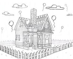 Disney House From Up 2 point perspective by Keira-Jade.deviantart.com on @deviantART