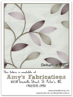 Amys Fabrications: The Seduction Collection of Home Decorating Fabrics ~ New for Spring/Summer 2013