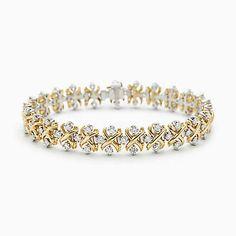 Bracciale Lynn Schlumberger in oro 18 carati con diamanti.