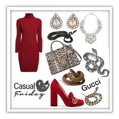 """""""Gucci 🐍"""" by girlsbossbio on Polyvore featuring Gucci, Rumour London, Cathy Waterman and Eye Candy"""