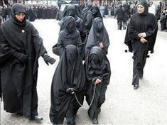 Muslim slave children in burqa and chains #The case for humanity & the lack thereof
