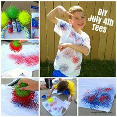 Kids Firework Shirt. 4th of July Craft idea!