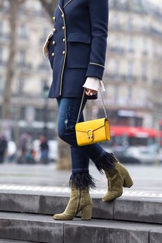 Double Breasted Military Coat In Paris
