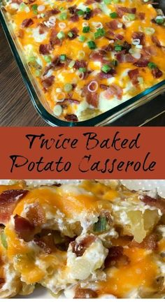 Twice Baked Potato Casserole : Do you love twice baked potatoes, but need an easier way to make them? This Twice Baked Potato Casserole is packed with delicious flavors and can be made much more quickly than traditional twice baked potatoes. Twice Baked Potatoes Casserole, Potatoe Casserole Recipes, Loaded Potato Casserole, Casserole Ideas, Quick Potato Recipes, Healthy Casserole Recipes, Potato Caserole, Easy Twice Baked Potatoes, Bacon Cheese Potatoes