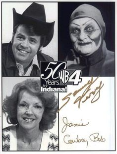 Cowboy Bob / SAMMY TERRY And Popeye and Janie / Local Cartoon Show and Horror Movie Hosts of Indiana Janie Hosted morning cartoons, Cowboy Bob hosted the afternoon cartoons and Sammy Terry was our Friday night host for Scary movies. My Childhood Memories, Best Memories, Indiana Girl, Indianapolis Indiana, Old Shows, Cartoon Shows, 3d Cartoon, Cartoon Characters, Scary Movies