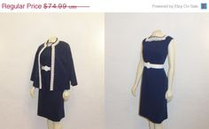 45 OFF Vintage Dress & Jacket 60s Mad Men by 2sweet4wordsVintage, $41.24