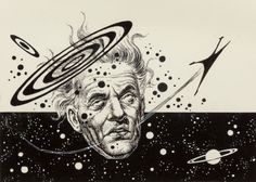 FRANK KELLY FREAS (American, 1922-2005) Astounding Science Fiction (Double Star), interior story illustration Ink on board 4.75 x 6.75 in. (image) Not signed