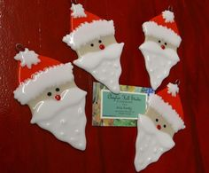Santa Ornament - Fused Glass | claytonhill - Glass on ArtFire