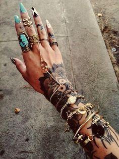 Hand tattoo women
