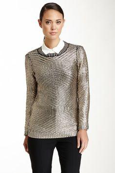 Metallic Knit Top by Rachel Roy on @HauteLook