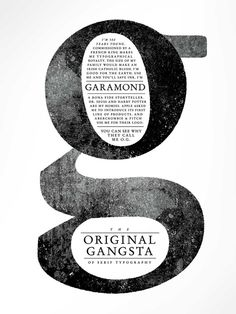 Garamond - I love this typeface