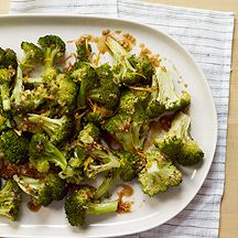 Citrus and Ginger Roasted Broccoli