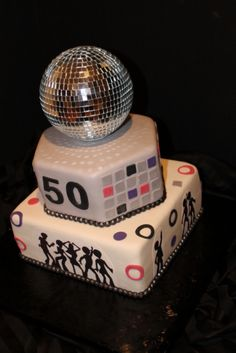 70s Disco Theme Birthday Cake Decorating Community Cakes We