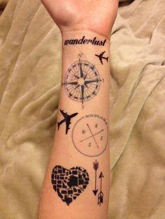 4 Travel Temporary Tattoos - SmashTat