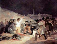 Francisco Goya, Le fucilazioni del 3 maggio, 1814, olio su tela, m 2,66×3,45. Madrid, Museo del Prado.
