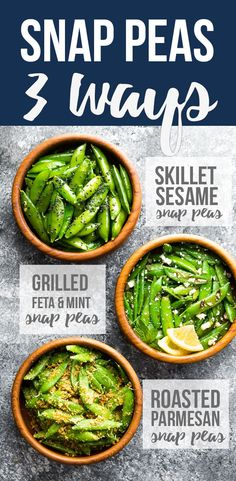 How to cook sugar snap peas- three simple recipes that can be cooked in under 10 minutes! Garlic sesame snap peas, grilled snap peas with feta and mint, and roasted snap peas with parmesan. #sponsored #sweetpeasandsaffron #snappeas #glutenfree #spring #healthyrecipes #side #snack via @sweetpeasaffron