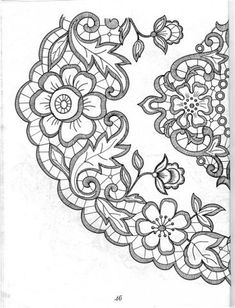 images attach c 10 110 547 Cutwork Embroidery, Embroidery Monogram, White Embroidery, Cross Stitch Embroidery, Lace Patterns, Embroidery Patterns, Machine Embroidery, Rosemaling Pattern, Romanian Lace