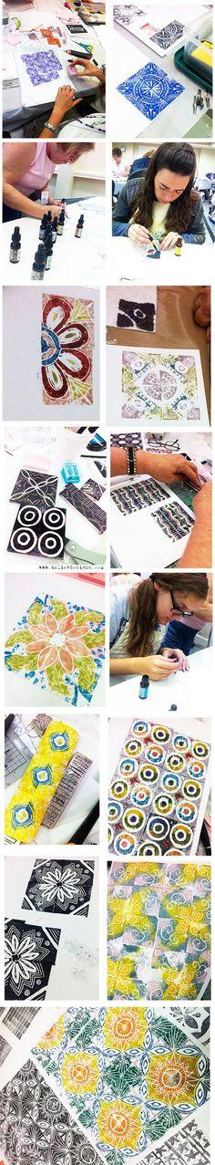 Carving Stamps for Patterning: Julie Fei-Fan Balzer {http://balzerdesigns.typepad.com}