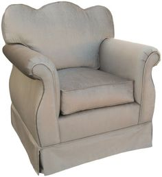 Dream chair Angel Song Aspen - Silver Empire Adult Rocker Glider Chair - Down Filled Angel