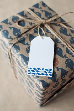 A Whale of a Time - set of 5 gift tags by ToodlesNoodles on Etsy, $6.75