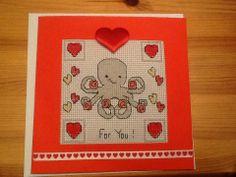My valentine! Cross stitch card