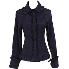 Partiss Women's Lapel Ruffle Vintage Victorian Cotton Lol... http://www.amazon.com/dp/B01EYFDKQC/ref=cm_sw_r_pi_dp_4fBkxb1H1EZVY