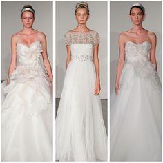 Marchesa conta com uma das coleções de vestidos de noiva mais completa e variada de todas. Fotografia cortesia de Marchesa