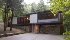 Submission: A stunning near original Mid-Century Modern home quietly nestled on the slope of a wooded hollow in lower Weston, CT. Built in 1961 by architect and sculptor Thomas H. Fleming, the Bauhaus and DeStijl inspired configuration of rectangles and walls of glass stimulates the imagination and welcomes nature indoors. Fleming, an architect and builder for celebrated Harvard Five architect Elliot Noyes, designed over 60 unique modern homes in Fairfield County from 1950 to 1975. This home…